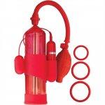 Mack Tuff: Vibrating Steelmaker Pump - Red Sex Toy