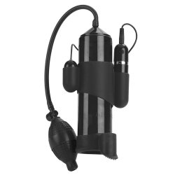 Adonis 10 Function Silicone Penis Pump - Black Sex Toy