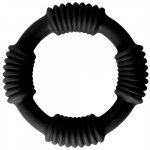 Adonis Silicone Ring: Hercules - Black Sex Toy
