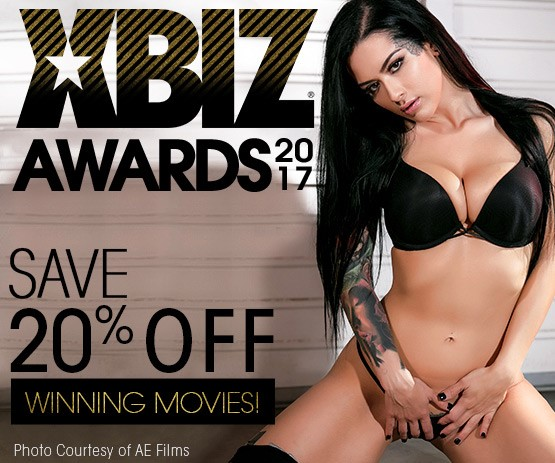 Save 20% on XBIZ Winner DVDs featuring Female Performer of the Year Katrina Jade and more.