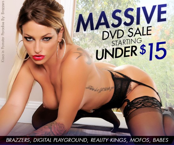 Buy porn DVDs on sale from 5 top studios featuring Kissa Sins and more.