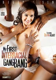 My First Interracial Gangbang DVD Image from Digital Sin.