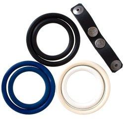 Nickel Free Interchangeable Dual Cock Ring Set image.
