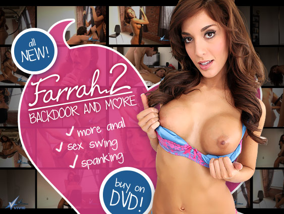 Farrah 2: Backdoor And More DVD from Vivid!