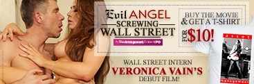 Buy Screwing Wall Street from Evil Angel and get a T-shirt for $10.