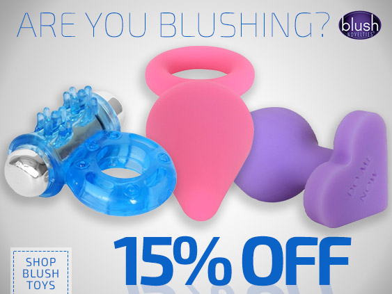Get a discount on Blush Novelties sex toys.