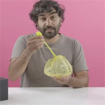 Man tries to distinguish sex toys from kitchen gadgets.